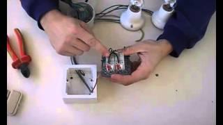 getlinkyoutube.com-Instalación de interruptor doble a dos puntos de luz.