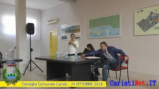 Consiglio Comunale Cariati 24 ottobre 2018   PARTE2