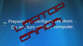 "getlinkyoutube.com-Laptop Error ""Preparing to configure windows. Do not turn off your computer"""