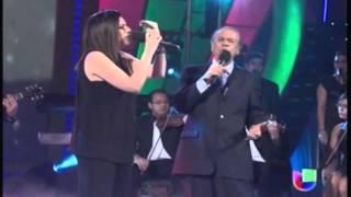 Laura Pausini and Lucho Gatica (!a 85 años!) - Historia de un Amor