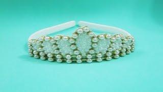 getlinkyoutube.com-Faça você mesma: tiara coroa de pérolas
