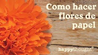 getlinkyoutube.com-Como hacer flores de papel por el dia de los muertos