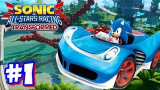 getlinkyoutube.com-Sonic & All Stars Racing Transformed Wii U - World Tour - Part 1