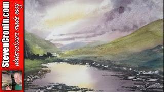 getlinkyoutube.com-How to paint a watercolour landscape