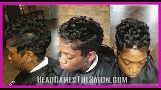 getlinkyoutube.com-FINGER WAVES and Curls Short Style