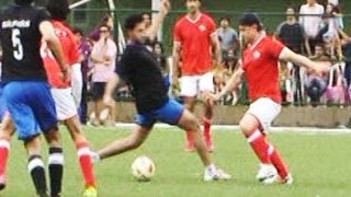 getlinkyoutube.com-Charity Football Match |  Aamir Khan, Hrithik Roshan, Abhishek Bachchan & Salman Khan | Part 1