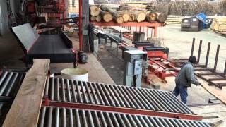 getlinkyoutube.com-Soliosmillwork wood mizer L T 70 with edger