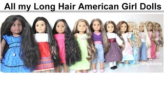 getlinkyoutube.com-All my Long Hair American Girl Dolls ~ Spring 2015 ~ HD