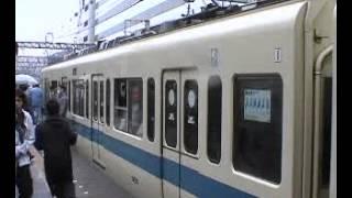getlinkyoutube.com-【懐かし鉄動画】引退日の小田急9000形 さよなら運転 新百合ヶ丘駅