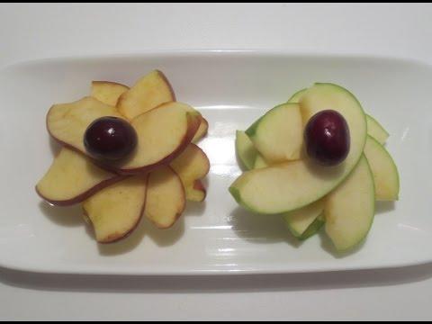 كيف تحول تفاحه الى زهره ?
