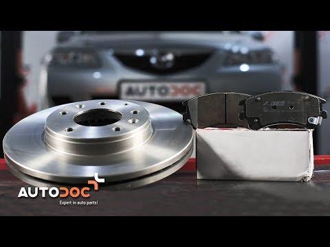 Как да сменим предни спирачни дискове и спирачни накладки на MAZDA 6 ИНСТРУКЦИЯ | AUTODOC