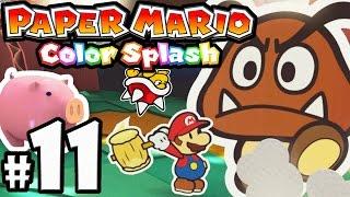 getlinkyoutube.com-Paper Mario Color Splash PART 11 - Wii U Gameplay Walkthrough - Mondo Woods & Chateau Chanterelle