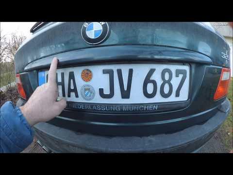 Ремонт подсветки номера на BMW e46