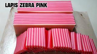 cara buat lapis pink zebra bahan dari terigu