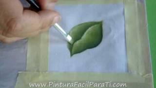 getlinkyoutube.com-Como Pintar Hojas en Tela Tutorial- Pintura en Tela  Cómo Pintar Facil Como Difuminar Pintura Facil
