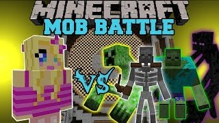 getlinkyoutube.com-GIRLFRIEND VS MUTANT CREATURES MOD - Minecraft Mob Battles - Mods