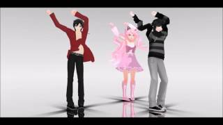 getlinkyoutube.com-[MMD] Follow the leader | Try to watch without laughing at Zane