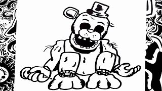 Como dibujar a golden freddy de five nights at freddy's | how to draw golden freddy