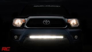 getlinkyoutube.com-2005-2015 Toyota Tacoma 30-inch Hidden LED Light Bar Bumper Mount by Rough Country