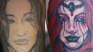 getlinkyoutube.com-Portrait Tattoo Cover Up - VAT Tattoo Series