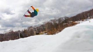 getlinkyoutube.com-Mountain Creek Snowboarding; Local Laps with Original Skateboards