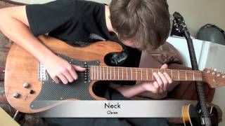 getlinkyoutube.com-Stratocaster, 1 Piece Custom Build (Pohutukawa)