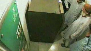 Real Video ATM Theft at Bank Branch width=