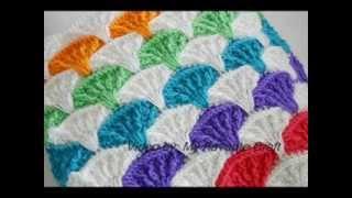 getlinkyoutube.com-Paintbrush Pillow & Afghan - Crochet Afgan Pattern Presentation