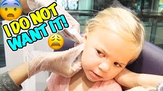 getlinkyoutube.com-😁 I DO NOT WANT IT! 😓 WILL BABY RORY PIERCE HER OTHER EAR?!?!  😱
