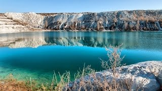 getlinkyoutube.com-Путешествия по Крыму. Симферополь - Скалистое - озеро мраморное (затопленный карьер).