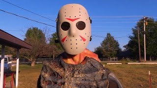 getlinkyoutube.com-Top 4 Friday the 13th Kills in Real Life! Jason Voorhees - Halloween Monster Mash!