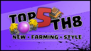 getlinkyoutube.com-Clash of Clans | Top 5 Town Hall 8 New Farming Bases | NEW Th11 Update | TH8 TH 8
