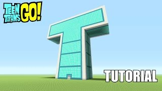 getlinkyoutube.com-Minecraft Tutorial: How To Make The Teen Titans Go! T-Tower!!