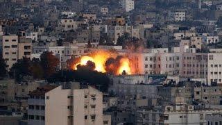 getlinkyoutube.com-F-16 fighters drop bombs on Gaza