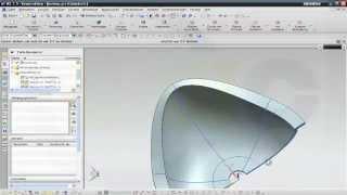 getlinkyoutube.com-10.5 Becken - Siemens NX 8 Training - Meshsurface through curves