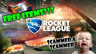 getlinkyoutube.com-A new way to get free items in Rocket League? | I Scammed a scammer trying to do the Dupe Glitch