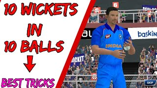 Real Cricket 18 !! 10 Wickets In 10 Balls In Real Cricket 18 Bowling Tips & Tricks RC18   Hindi/Urdu