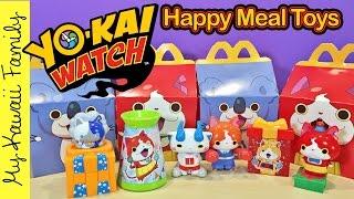Yo-Kai Watch Happy Meal Toys! Japanese McDonald's Toys December 2016 My Kawaii Family