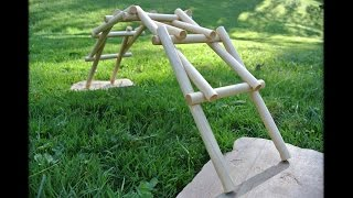 getlinkyoutube.com-Dowel routing for the da Vinci bridge puzzle