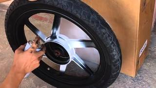 Pintando roda liga leve