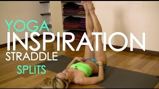 getlinkyoutube.com-Straddle Front Splits, Yoga Stretch for Beginners with Kino