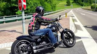 getlinkyoutube.com-Best Custom of Harley Davidson Softail Breakout Umbau