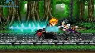 getlinkyoutube.com-Ichigo Kurosaki vs Sasuke Uchiha (part 1)