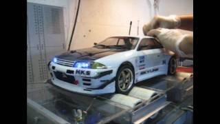 getlinkyoutube.com-RC Dyno Skyline R32 GTR drift  turbo exhaust brembo brakes