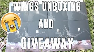 getlinkyoutube.com-8 COPIES?! | BTS WINGS UNBOXING + GIVEAWAY [CLOSED]