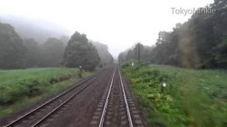 【寝台特急カシオペアの旅】展望室 函館→森 五稜郭でトワイライト