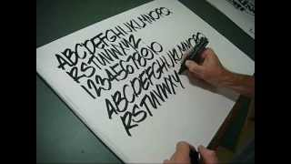 getlinkyoutube.com-How to draw pen Lettering freehand style you can do it!!!!