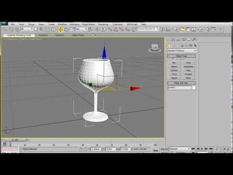 3ds Max Spline Modeling A Wine Glass
