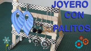 getlinkyoutube.com-Bonito joyero para pendientes hecho con palitos de madera