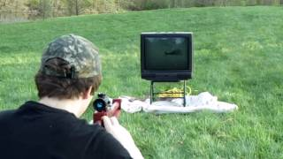 getlinkyoutube.com-Shooting Television with Homemade Air Cannon Part 1